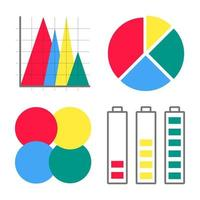 moderno estilo plano design infográficos ícones sinais conjunto ilustração vetorial isolada no fundo branco vetor