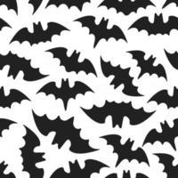 padrão de halloween sem costura com animais morcegos estilo plano design ilustração vetorial vetor