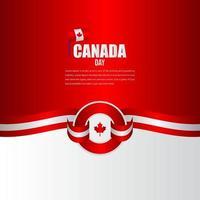 modelo de vetor de ilustração de design de celebração do dia da independência do Canadá