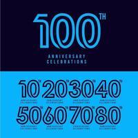 Ilustração de design de modelo vetorial celebração do 100º aniversário vetor