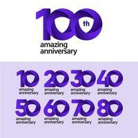 100 anos incrível ilustração de design de modelo de vetor de celebração de aniversário