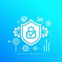 vetor de cibersegurança, acesso e proteção de dados