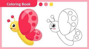 livro de colorir borboleta vetor