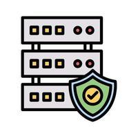 ícone de segurança do banco de dados vetor