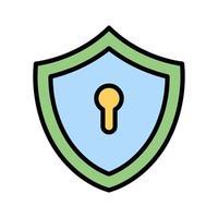 ícone de chave de escudo vetor