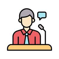 ícone de vetor de conferência