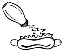 ilustração do símbolo de cachorro-quente vetor
