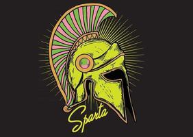 capacete de guerreiro espartano vetor