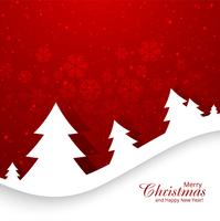 Lindo cartão de feliz natal com fundo de floco de neve vetor
