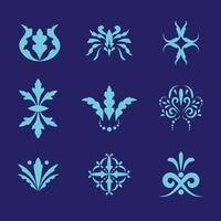 conjunto de vetores ornamentos