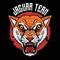 predador de animais selvagens, logotipo do jaguar, ilustrador esportivo vetor