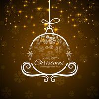 Cartão bonito de Natal com design de bola decorativa vetor