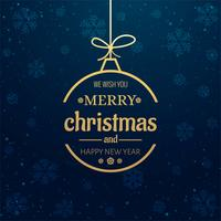 Fundo de bola decorativa linda feliz Natal vetor