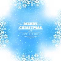 Brilhos lindos feliz Natal cartão com background de floco de neve vetor