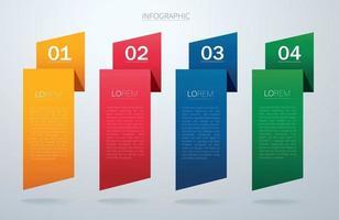 template gráfico de informação com 4 opções. pode ser usado para web, diagrama, gráfico, apresentação, gráfico, relatório, infográficos passo a passo. vetor