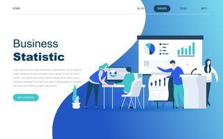 Conceito moderno design plano de estatística de negócios