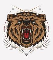 o emblema com urso. imprimir design para t-shirt vetor
