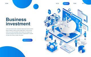 Conceito moderno de design isométrico de investimento empresarial