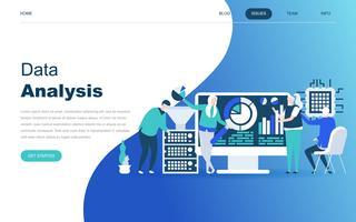Conceito moderno design plano de Big Data Analysis