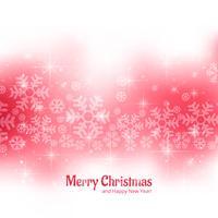 Brilhos lindos feliz Natal cartão com background de floco de neve