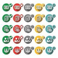 ícones de negócios para você vetor