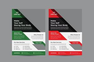 modelo de folheto de ginástica corporal vetor