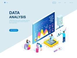 Conceito isométrico moderno design plano de análise de dados vetor