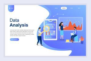 Conceito moderno design plano de Big Data Analysis vetor