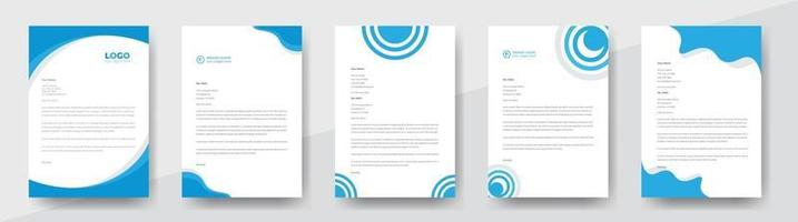 pacote de papel timbrado de estilo empresarial moderno e criativo para design de projetos corporativos. pacote de papel timbrado corporativo. conjunto de papel timbrado corporativo. vetor