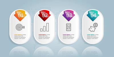 apresentação de infográficos horizontais de barra de guias abstratos vetor