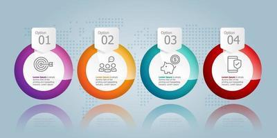 apresentação de infográficos horizontais de círculo abstrato vetor