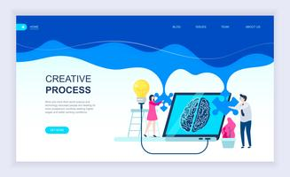 Conceito moderno design plano de processo criativo vetor
