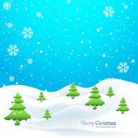 Vetor de fundo de árvore de Natal feliz de inverno