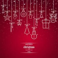 Fundo de cartão bonito feliz Natal vetor