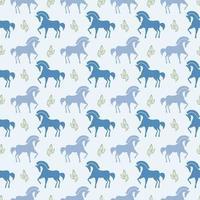 vetor cavalo padrão sem emenda imagem vetorial de estoque de fundo