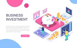 Conceito isométrico moderno design plano de investimento empresarial
