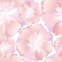 padrão floral sem emenda. flor crisântemo ornamental textura oriental. wihte fundo do jardim de flores. vetor