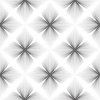 abstrato padrão linear floral sem emenda. ornamento de linha árabe com formas de flores. floral oriental telha padrão com linhas pretas. ornamento asiático. textura de doodle geométrico de redemoinho vetor