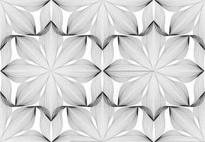padrão de linha floral sem costura abstrata. ornamento de linha árabe com formas de flores. floral oriental telha padrão com linhas pretas. ornamento asiático. textura de doodle geométrico de redemoinho vetor