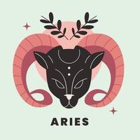 ilustração em vetor design plano signo do zodíaco