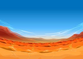 Paisagem de deserto ocidental distante sem costura para jogo de interface do usuário vetor