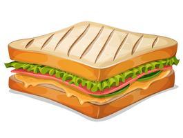 Sanduíche francês ícone vetor