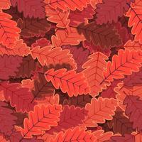 Wallpaper de folhas de carvalho de inverno sem costura vetor