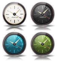 Conjunto de ícones de relógios vetor