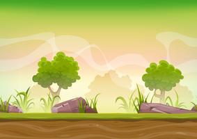 Paisagem de floresta sem costura para jogo de interface do usuário
