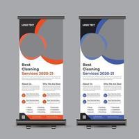 serviços de limpeza roll up banner vetor