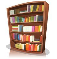 Estante de biblioteca dos desenhos animados vetor