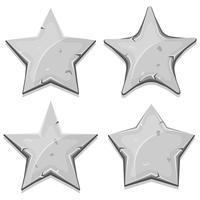 Ícones de estrelas de pedra para o jogo de interface do usuário