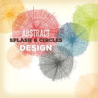 Mão abstrata desenhados círculos e salpicos de Design