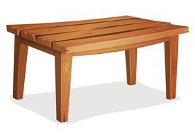 Mesa de madeira dos desenhos animados vetor